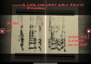 PhonoPaper-Code, der von der App gescannt wird