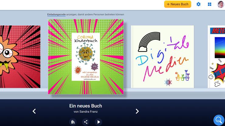 Screenshot Book Creator Bibliothek