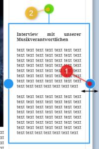 Book Creator: Textfeldgröße ändern