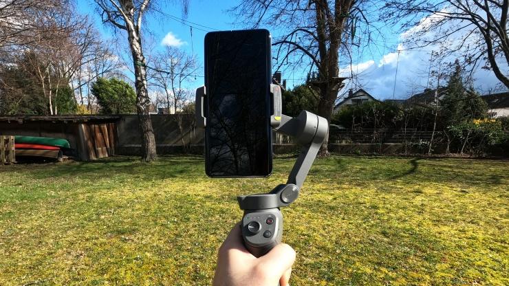Filmen mit einem Smartphone-Gimbal