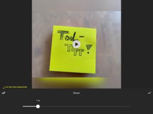 Tempo einstellen in der InShot-App