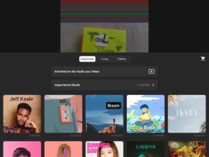 Musik auswählen in der InShot-App