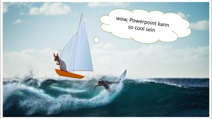 Postkarten-Motiv erstellt mit PowerPoint